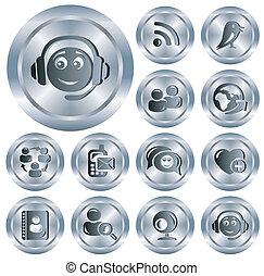 Social network buttons - Social network button set