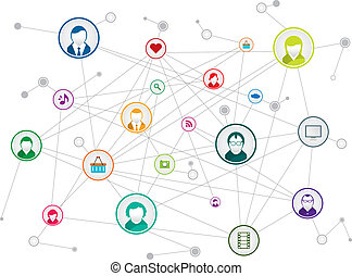 social network - communication network in social media
