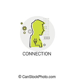Social Network Communication People Connection Icon