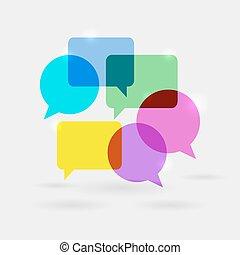 Social Network Communication Speech Bubbles
