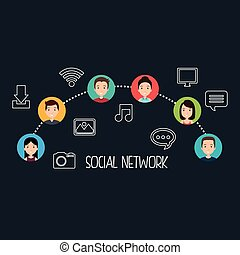 social network community people