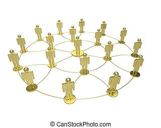 social network concept. 3d rendering.