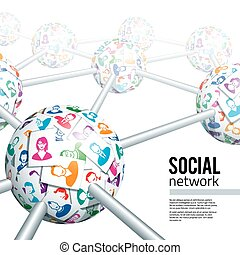 Social network concept. Eps10. Transparency used. CMYK....