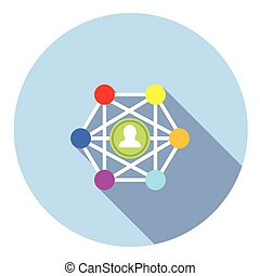 Social Network Concept Flat Icon