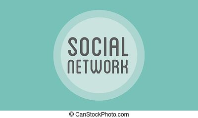 Social network concept HD animation - People avatar in round...