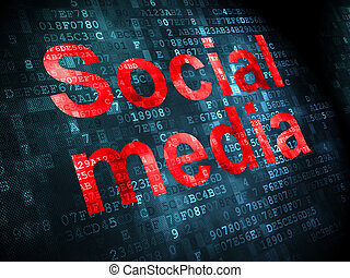 Social network concept: Social Media on digital background