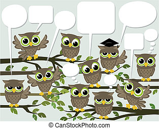 social network cute owls