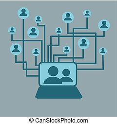 Social network design. vector illustration