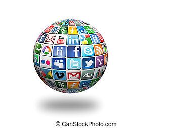 Social Network - Gabrovo,Bulgaria -January 11, 2013. A...