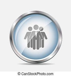 Social Network Glossy Icon Vector Illustration