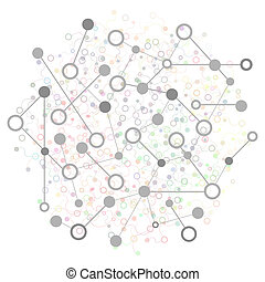 Social Network Graphic Concept. Abstract Background with Dots Array and Lines. Geometric Modern Technology Concept. Connection Structure.