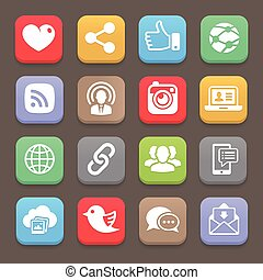 Social network icon for web, mobile. Vector