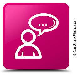 Social network icon pink square button
