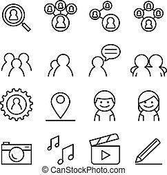Social network icon set