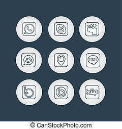 Social Network Icons - Social Network Icon Web Buttons,...