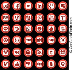 Social Network Icons - Social Network Icon Web Buttons