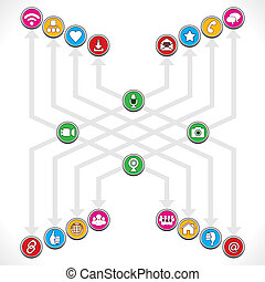 Social Network icons make a group
