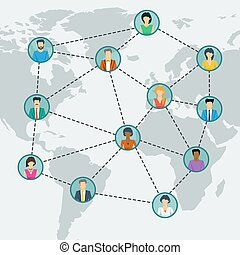 Social network in world