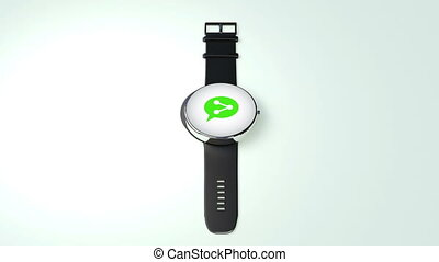 Social network internet service function for Smart watch