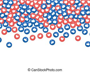 Social network marketing like and heart icon. Application ...