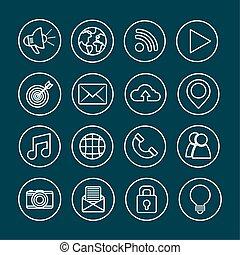 social network media flat design