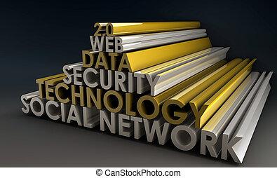 Social Network Online Web 2.0 in 3d