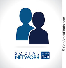 social network over gray background vector illustration