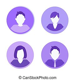 Social Network People Icons Vector Illustration
