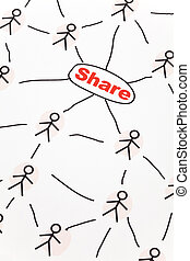 Social Network - People Sketching Network, concept of...