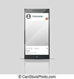 Social network phone