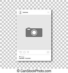 Social network photo frame.