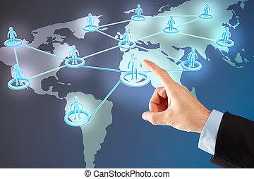 Social network and hand choosing people