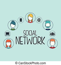 social network set icons