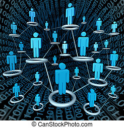 Social Network - Social business network linked together by...