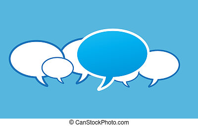 social network speech bubbles