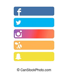 Social Network Strip Backgrounds with White Background