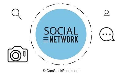 Social network symbols HD animation - Social network symbols...