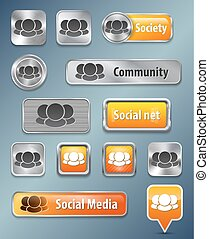 Social network web elements