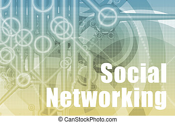 Social Networking Abstract Background in Blue Color