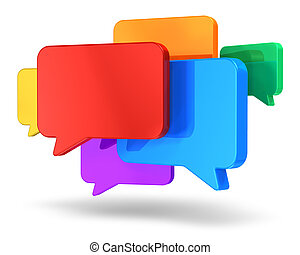 Social networking and chat concept - Social networking media...