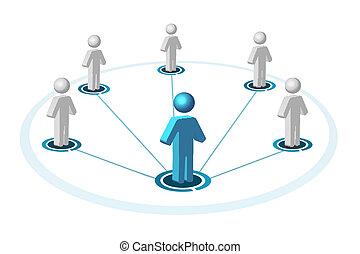 social networking - illustration of social networking on...