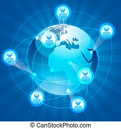 social networking - illustration of social networking