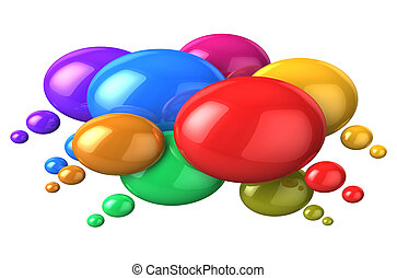 Social networking concept: colorful speech bubbles - Social...