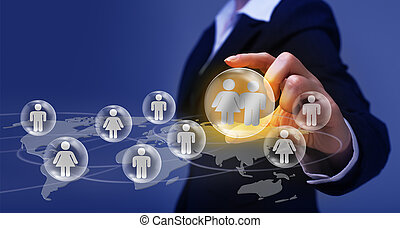 Social networking concept - making and finding friends