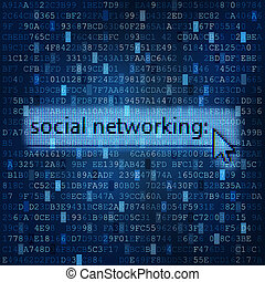 Social networking digital media background