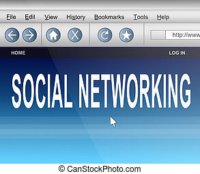 Social networking. - Illustration depicting computer screen...