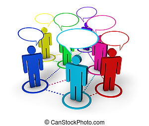 Social Networking Internet Concept - Internet community,...
