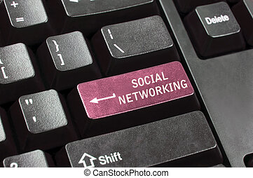 Social networking key in place of enter key