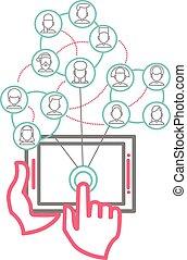 Social Networking People Conceptual Vector Design - Social ...