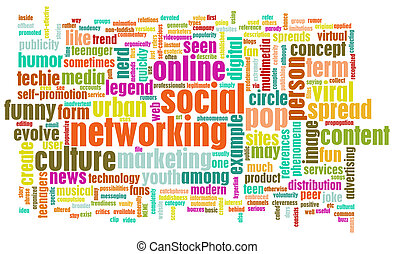 Social Networking Site Online Concept On Internet